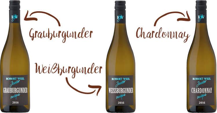 Robert Weil Grauburgunder Weisburgunder Chardonnay